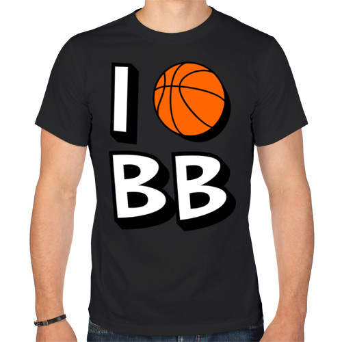 "Футболка ""I love Basketball"""