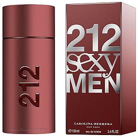 Мужская туалетная вода Carolina Herrera 212 Sexy Men 100 мл (Euro A-Plus)