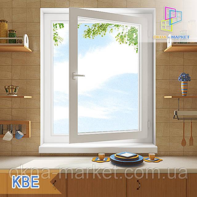 Одностворчатое поворотно-откидное окно КВЕ Optima