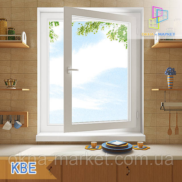 Окна одностворчатые KBE цены с установкой и без установки