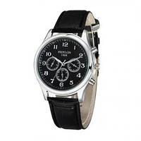 [ Часы наручные Fedylon 1868 ] Наручные кварцевые мужские часы черные