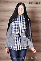 Куртка молодежная трикотаж+каттон OD-018 р.44,46