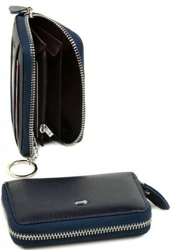 Аккуратный женский кожаный кошелек dr.Bond WKR-1 blue синий