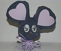 Мышонок с сердечками ,  игрушка мягкая
