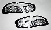 KORRIDA - Защита задних фар (СТОП сигналов), ударопрочный пластик (из 2-х частей) на Daewoo Lanos, S-600