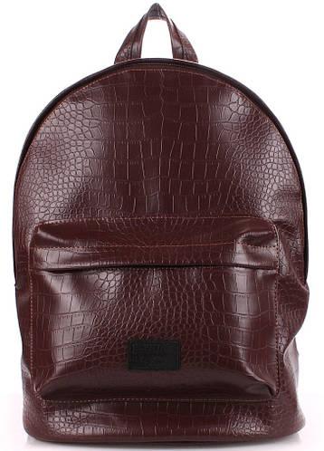 Молодежный рюкзак 17 л. POOLPARTY backpack-croco-brown