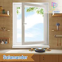 """Поворотно-откидное окно Salamander Streamline eco 800x1400 """"Окна Маркет"""""""