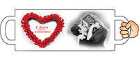 """Печать на чашках """"С Днем Святого Валентина"""""""