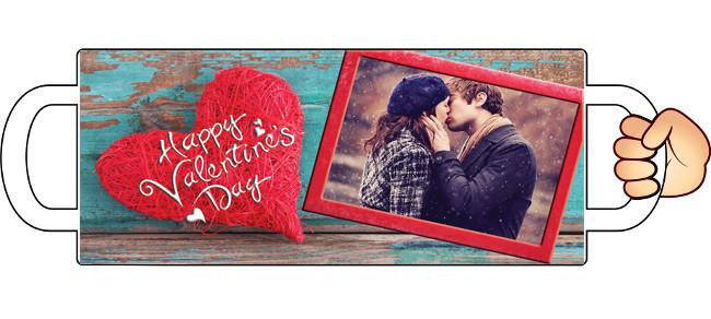"""Печать на чашках """"Happy Valentine's Day"""""""