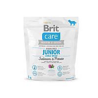 Корм для собак Brit Care GF Junior Large Breed Salmon & Potato 1 кг, лосось, для щенков гигантских пород