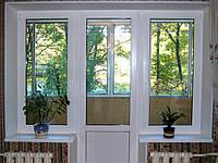 """Металлопластиковый балконный блок AFT Vista 2100*2100 """"чебурашка"""" Два окна .Стандартный.однокамерный"""