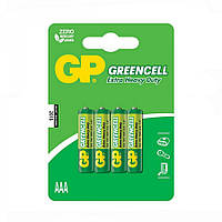 Батарейка GP 24G-U4 Greencell R03 ААA (4шт, блистер, 40/320)