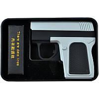 Электроимпульсная USB зажигалка Пистолет (4367)
