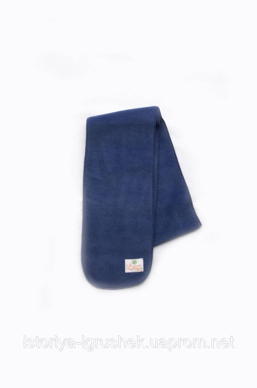Флисовый шарф синий