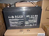 Аккумулятор гелевый AS12-80 80Ач, 12В GEL
