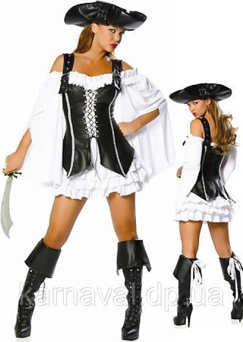 """Костюм """"Піратка чорно-біла"""" напрокат"""