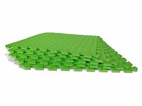 Детский мягкий пол-пазл 500*500*12мм EVA зеленый