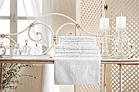 "Кухонное полотенце для рук ""ТМ"" GUL GULER ""YENI ARMA"" white  30х50 хлопок 100%"