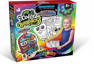 """Комплект креативного творчості""""My Color BagPack"""" CBP-01 рюкзак-розмальовка (Сови)"""