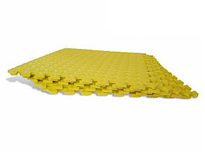 Lanor Детский мягкий пол-пазл 500*500*12мм EVA желтый