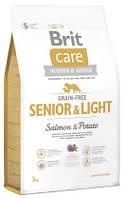 Корм для собак Brit Care GF Senior & Light Salmon & Potato 3 кг, лосось, для пожилых собак всех пород