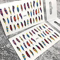 Слайдер-дизайн, водные наклейки для ногтей №2896