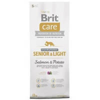 Корм для собак Brit Care GF Senior & Light Salmon & Potato 12 кг, лосось, для пожилых собак всех пород