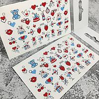 Слайдер-дизайн, водные наклейки для ногтей №2905