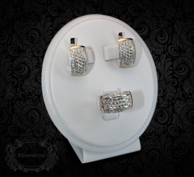 Серебряные комплекты с золотыми вставками