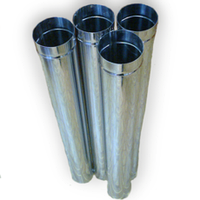 Трубы дымоходные из нержавейки 0,4 мм (одностенные)