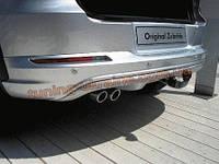 Накладка на бампер задняя VolksWagen Touareg 2010+