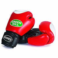 """Перчатки боксерские для начинающих """"HAMED"""" Green Hill 8 oz"""