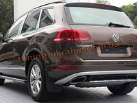 Накладки на бампер передняя и задняя VolksWagen Touareg 2010+