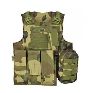 Жилет тактический AOKALI Outdoor А56 Camouflage разгрузочный военный