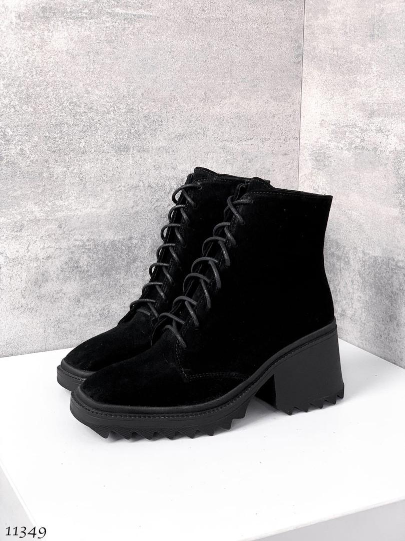 Осінні черевики жіночі на підборах 7110 (СБ)