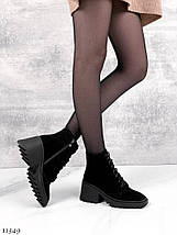 Осінні черевики жіночі на підборах 7110 (СБ), фото 2