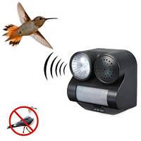 Огородный отпугиватель птиц c датчиком движения, световым и звуковым отпугиванием на 4-х АА батарейках (GH-192