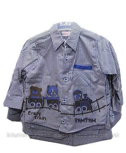 Детская рубашка на мальчика оптом