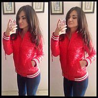 Легкая весенняя курточка, красный цвет