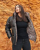 """Куртка женская эко-кожа + био-пух (48-54) """"INELLA"""" недорого от прямого поставщика"""