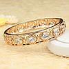 Ажурний позолочений браслет з камінням фіанітів 005-0430