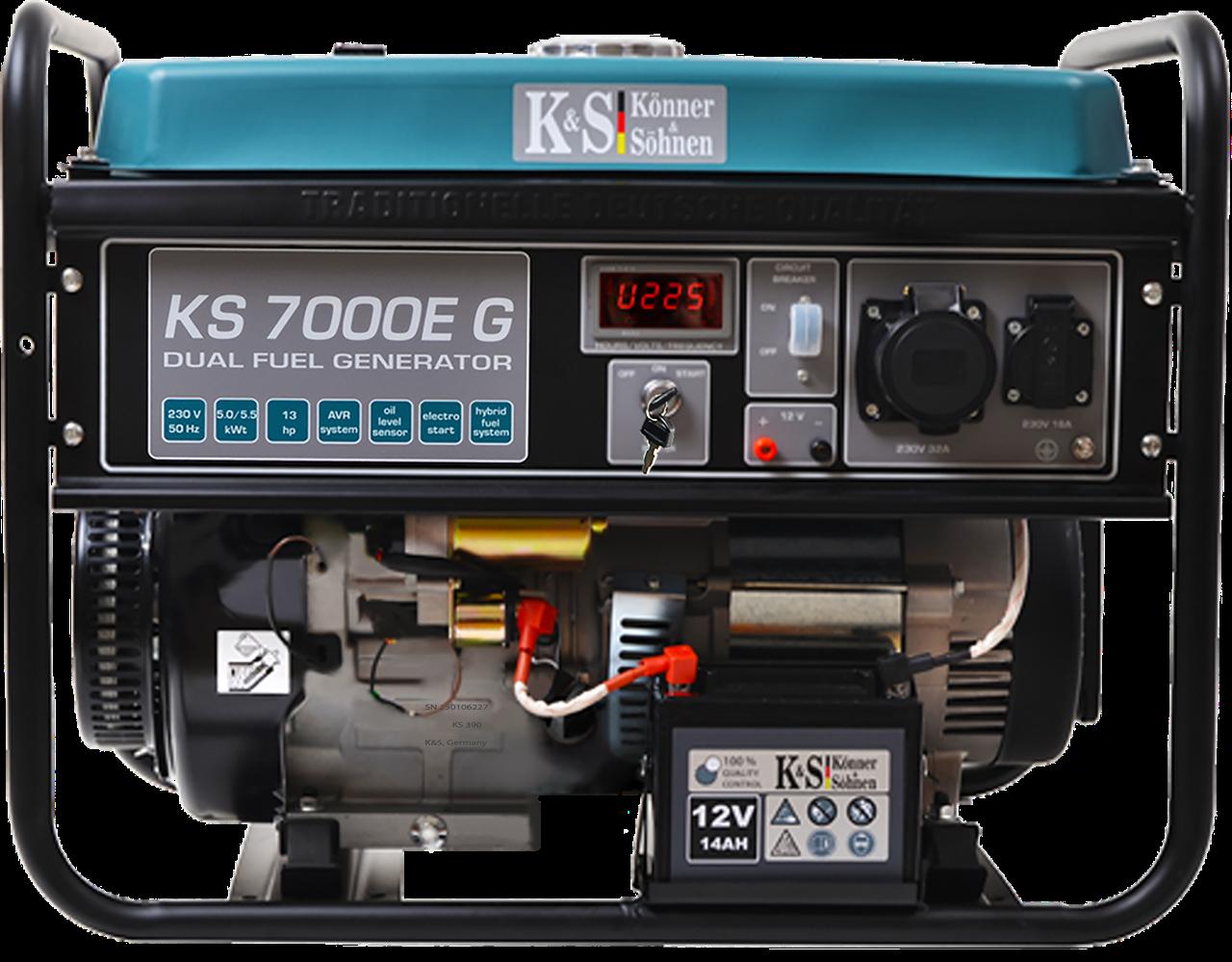 ⚡K&S 7000G (бензин/газ)