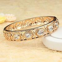 Ажурный позолоченный браслет с камнями фианита 005-0430