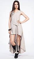 Ассиметричное платье льняное, любой цвет, можно вышить узор по желанию