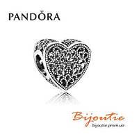 Pandora шарм АЖУРНОЕ СЕРДЦЕ 791811 серебро 925 Пандора оригинал, фото 1