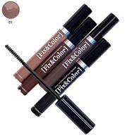 Оттеночный гель для бровей - Relouis Fix and Color Eyebrow Gel №01
