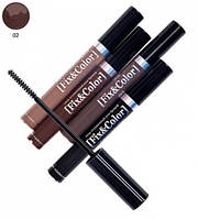 Оттеночный гель для бровей - Relouis Fix and Color Eyebrow Gel №02