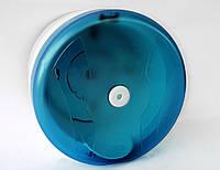 Диспенсер для туалетной бумаги с фронтальной полистовой выдачей АБС пластик, 9316 голубой