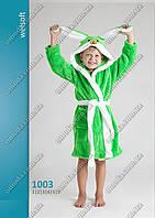 Яркий детский халат Заяц с ушками софт-махра