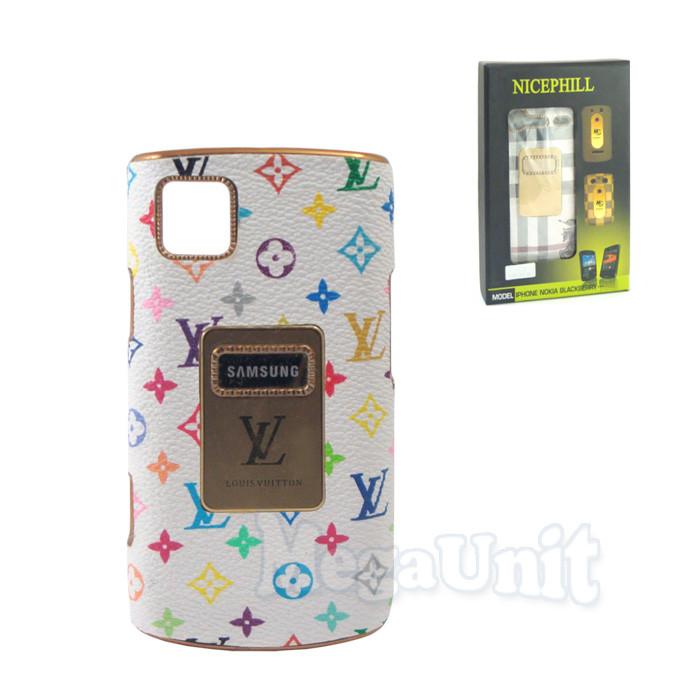 Nicephill Гламурный чехол для Samsung S8530 Wave 2 #Louis Vuitton flowers white